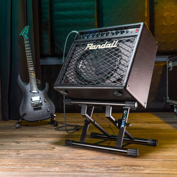amp stand shown with amp
