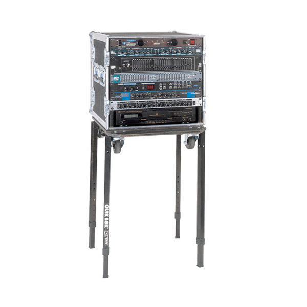 mixer stand shown with rack system