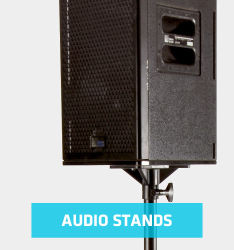 speaker on audio stand
