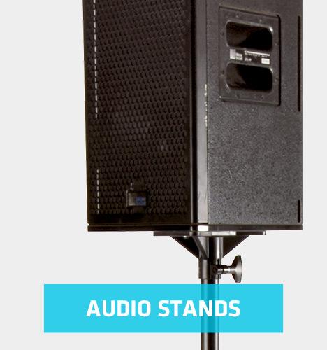 speaker on audio stand